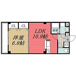 千葉県千葉市中央区神明町の賃貸マンションの間取り