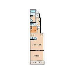 奈良県奈良市北之庄西町2丁目の賃貸アパートの間取り