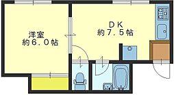 ニュー高井田マンション[303号室]の間取り