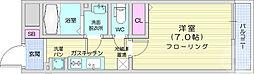 仙台市地下鉄東西線 宮城野通駅 徒歩8分の賃貸マンション 2階1Kの間取り