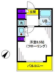 トーシンハイツ立川柴崎町[4階]の間取り