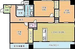 パークテラス浅生[1階]の間取り