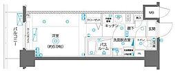 ZOOM横濱EAST 9階1Kの間取り