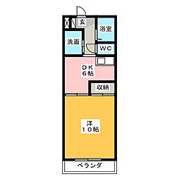 ガーデンプレイスヴィラ A・B[5階]の間取り