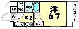 エステムコート大阪城北天満の杜[6階]の間取り