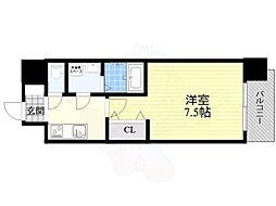 S-RESIDENCE福島Grande 4階1Kの間取り