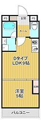 なごみマンション 2階1LDKの間取り