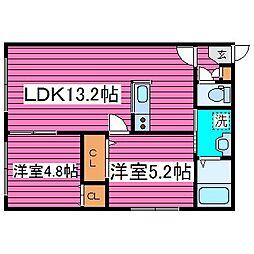 北海道札幌市東区北三十九条東17丁目の賃貸マンションの間取り