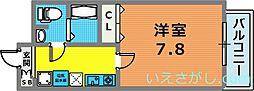 ダイドーメゾン神戸元町[10階]の間取り