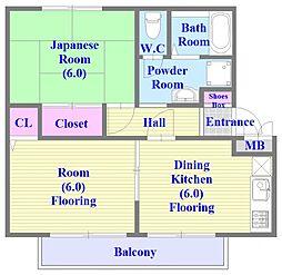 ハッピーハイツ[2階]の間取り