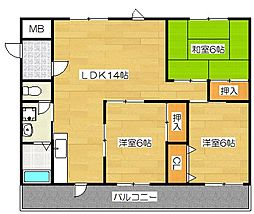 吉塚マンション[106号室]の間取り