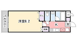 LEO弍拾弍番館[206号室]の間取り
