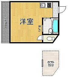 プチグレイス塚口壱番館[2階]の間取り