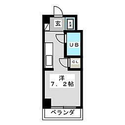 レジデンスシャトー[4階]の間取り