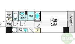 アスヴェル新大阪SOUTH 10階1Kの間取り