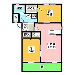 ガーデンヴィラB[1階]の間取り