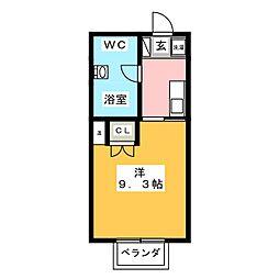 ウッディハウスIII[1階]の間取り