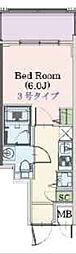 Osaka Metro千日前線 阿波座駅 徒歩3分の賃貸マンション 7階1Kの間取り