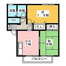 グランシャリオM1[2階]の間取り