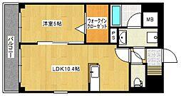イーハトーブ櫛原[6階]の間取り