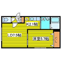 北海道札幌市東区北十八条東14丁目の賃貸マンションの間取り