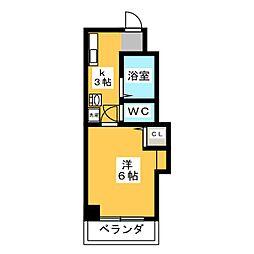 ハイツサンミ[2階]の間取り