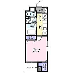 グレンツェン茨木[4階]の間取り