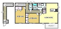 D-roomKH[2階]の間取り