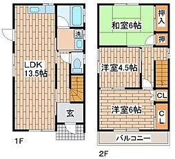 [一戸建] 兵庫県神戸市須磨区戎町2丁目 の賃貸【/】の間取り
