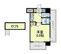 エステムプラザ大阪セントラルシティ[6階]の間取り