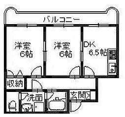 エスタイル泉大津[2階]の間取り