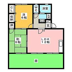 セジュールシモノ B棟[1階]の間取り