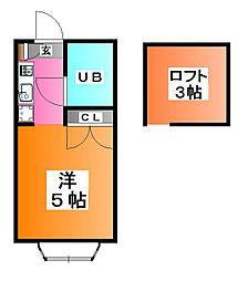 秀華三番館[2階]の間取り
