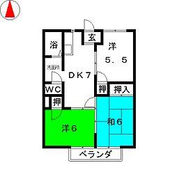 ファインSKハイム[2階]の間取り