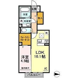 D-room泉台A棟[105号室]の間取り