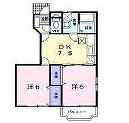ゾーナヴェルデ3番館[1階]の間取り