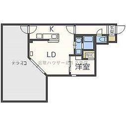 JR函館本線 桑園駅 徒歩4分の賃貸マンション 1階1LDKの間取り
