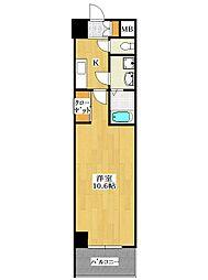 レ・ソール本八幡エルア[3階]の間取り