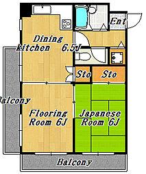 ルミナスマンション[4階]の間取り