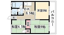 OS・SKYマンション城下[A5号室]の間取り