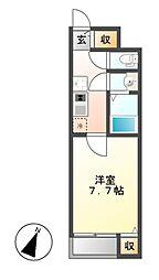クレイノMIZUNOII[1階]の間取り