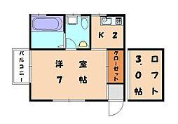 Kーハウス[2階]の間取り