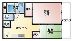 新谷町第3ビル[6階]の間取り