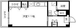 ロッヂングス東屋敷[105号室]の間取り