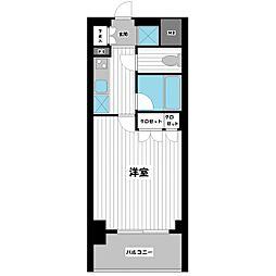 スペーシア川崎III[213号室]の間取り