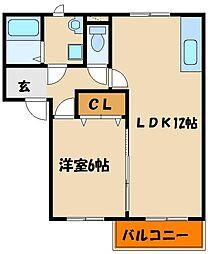 フレグランス明石西2[1階]の間取り