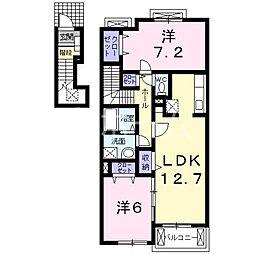 パレ・ソレイユ[2階]の間取り