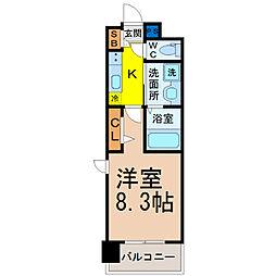 パルティール名駅北[4階]の間取り