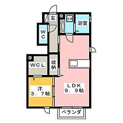 カーサ クラシオンB[1階]の間取り