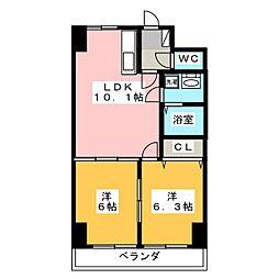 ホワイトストーン[5階]の間取り